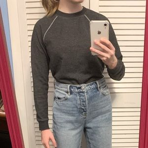 Forever 21 gray crew neck sweater